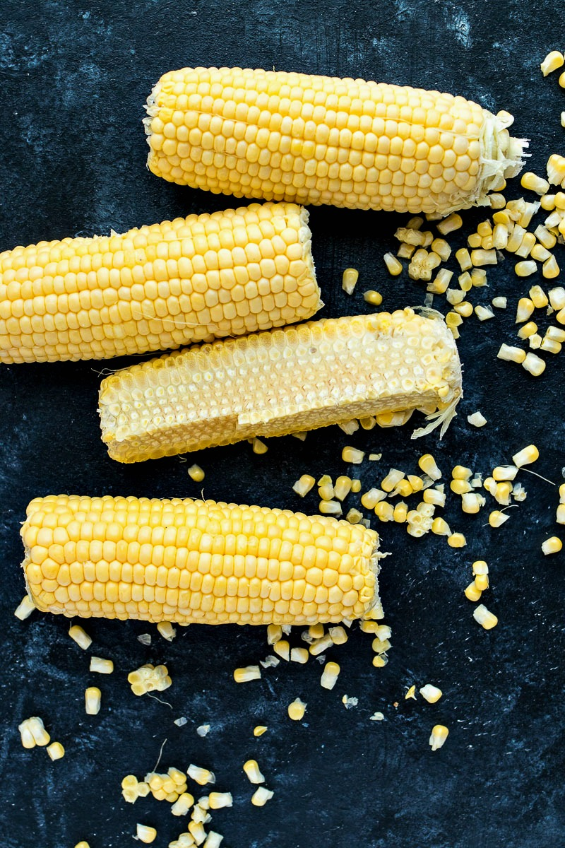 Corn cobs after having the kernels removed