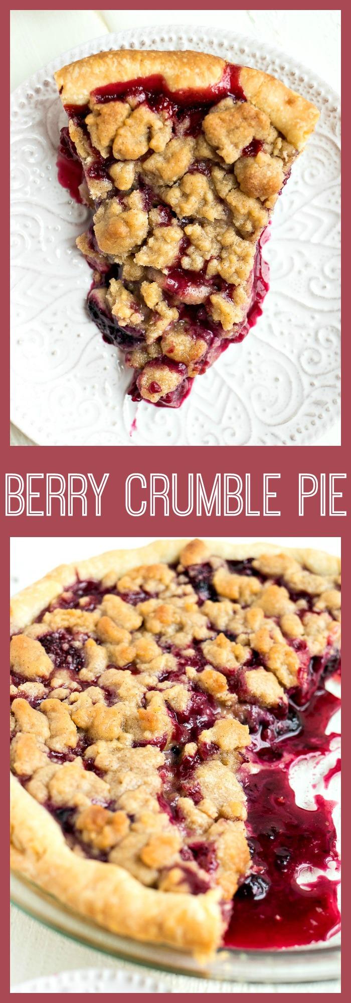 Berry Crumble Pie photo collage