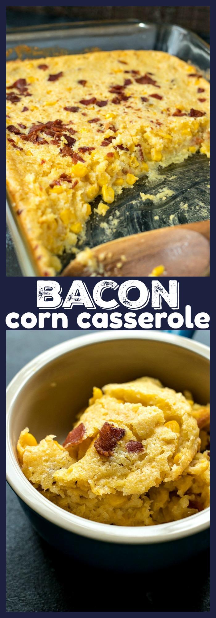 Bacon Corn Casserole photo collage