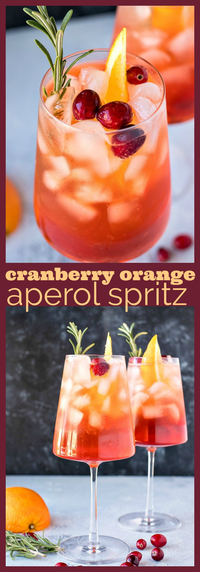 Cranberry Orange Aperol Spritz photo collage