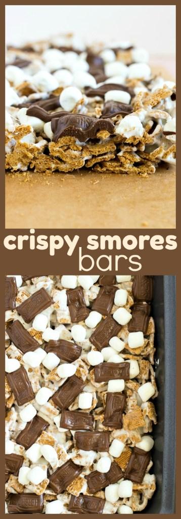 Crispy S'mores Bars photo collage
