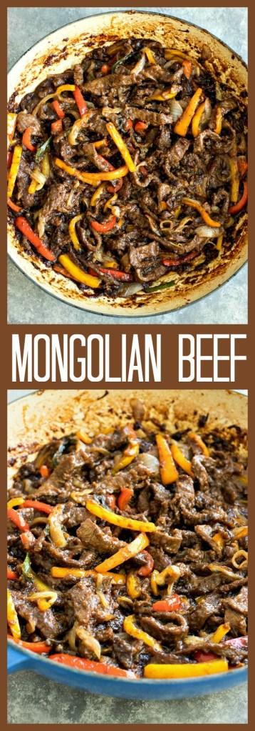Mongolian Beef photo collage