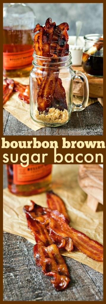 Bourbon Brown Sugar Bacon photo collage