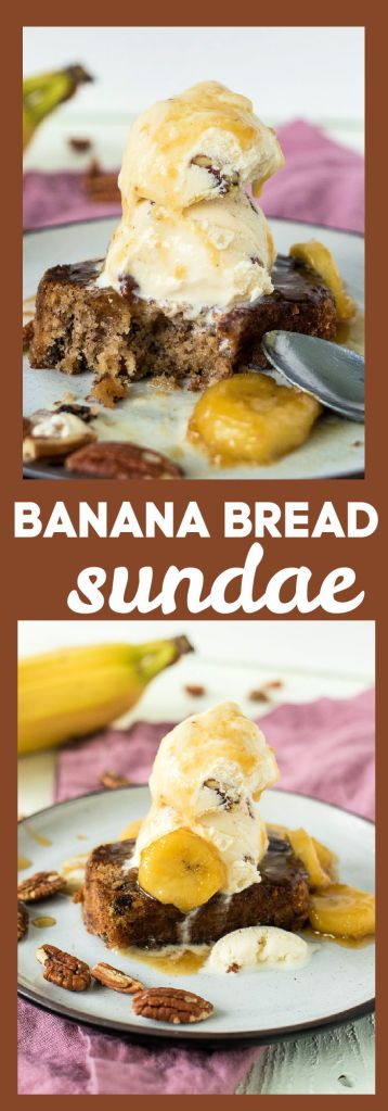 Banana Bread Sundae photo collage