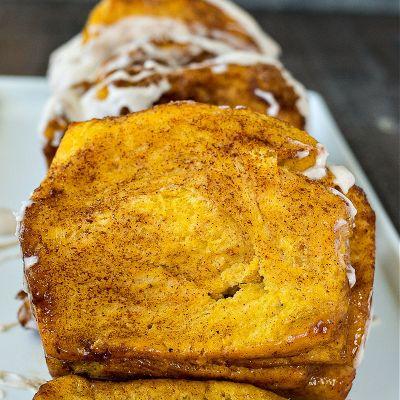 Pumpkin Cinnamon Pull Apart Loaf