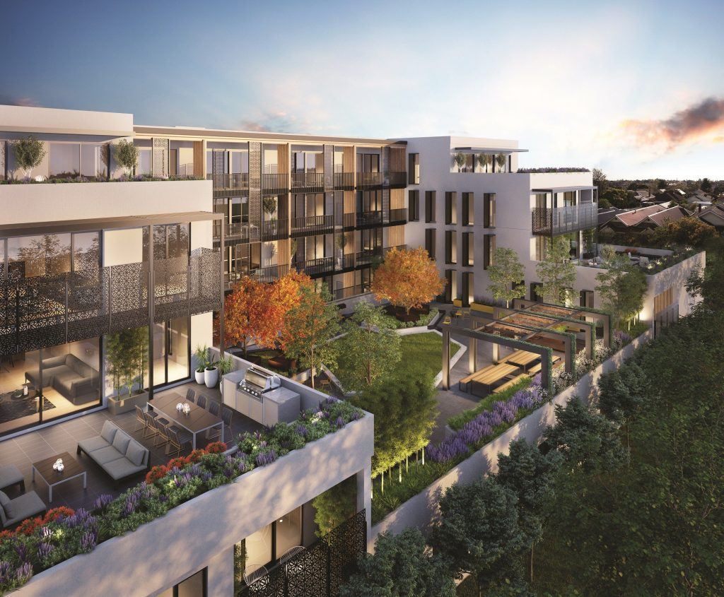 3D Exterior Rendering with Aerial View