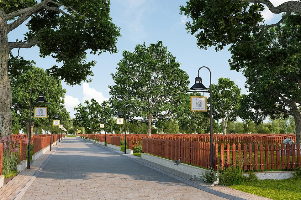 3D Landscape Garden Rendering