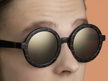 Mykita Studio Campaing - Black-gold-square