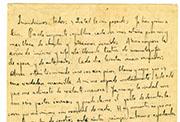 Carta manuscrita de Federico García Lorca a sus padres y hermanos, Nueva York, Nueva York, principios de noviembre de 1929. Colección Fundación Federico García Lorca.