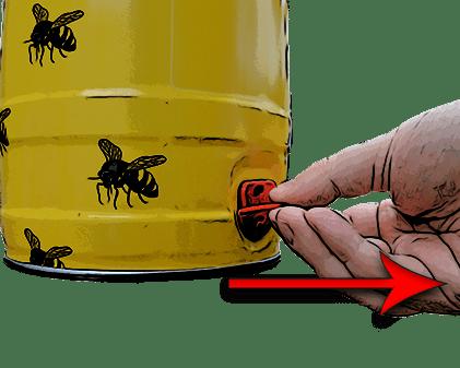 How to open a mini keg step 2