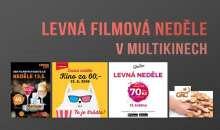Květnová levná neděle v multikinech Premiere Cinemas, Cinema City, CineStar a Golden Apple Cinema