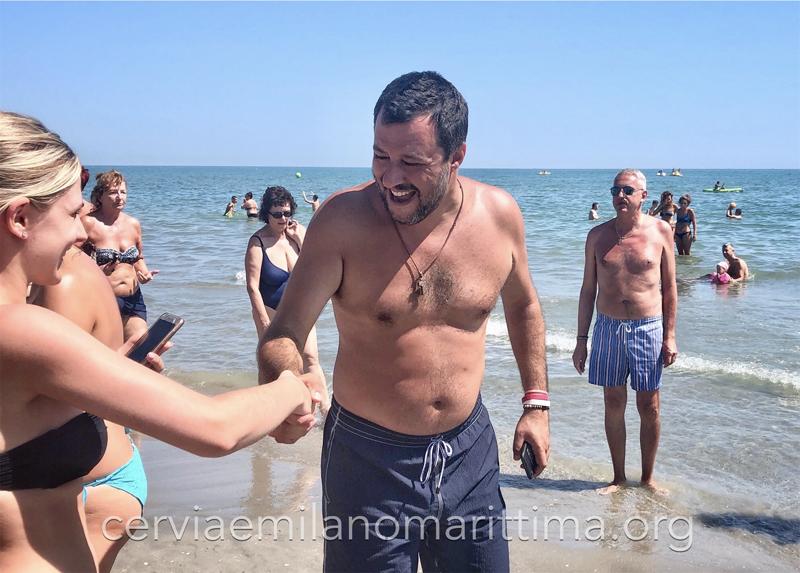 Matteo Salvini a Milano Marittima