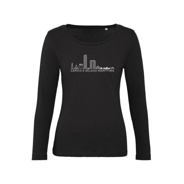T-Shirt Maniche Lunghe Donna - Skyline