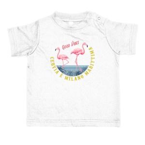 Baby T-shirt fenicotteri