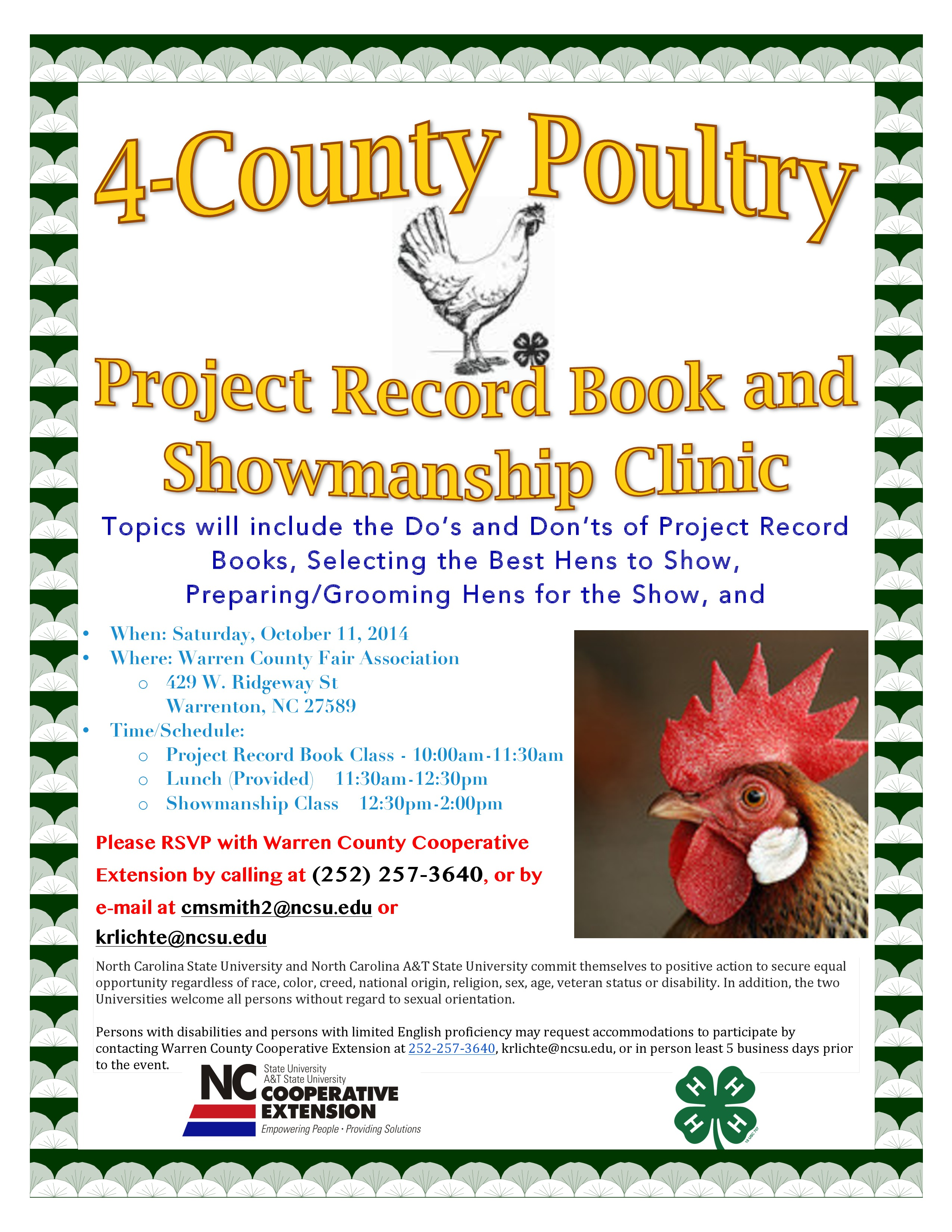 4 H Poultry Workshop