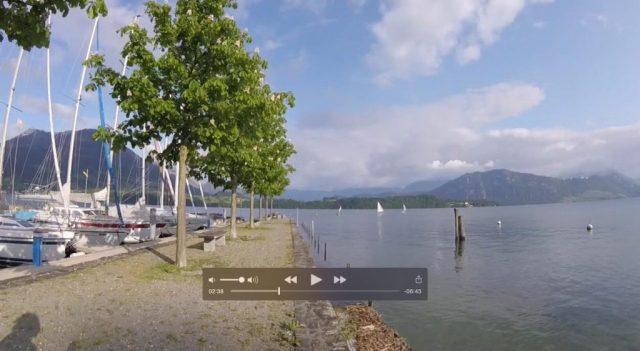 Puerto deportivo en Lago Cuatro Cantones