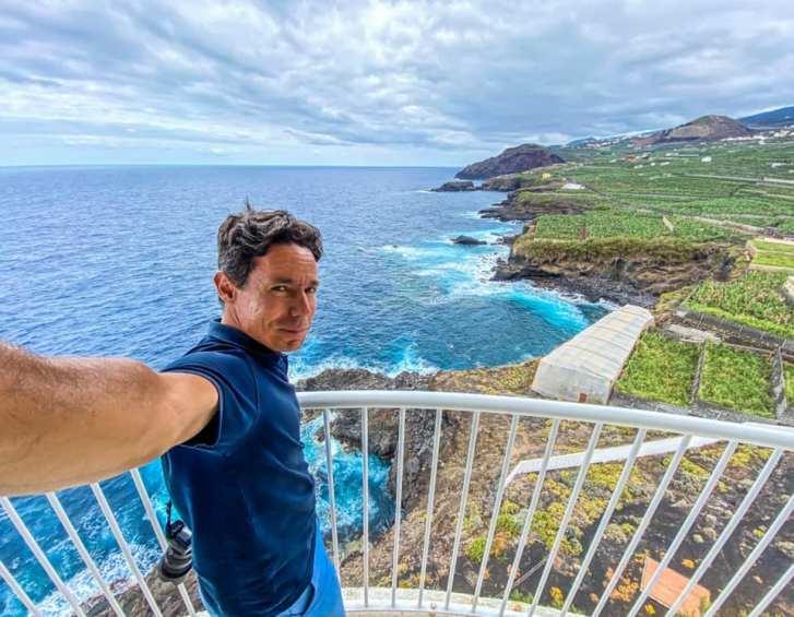 Cesar Sar en el Faro de Punta Cumplida