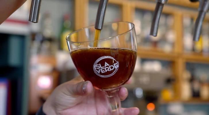 Cerveza artesanal Isla Verde. Tijarafe