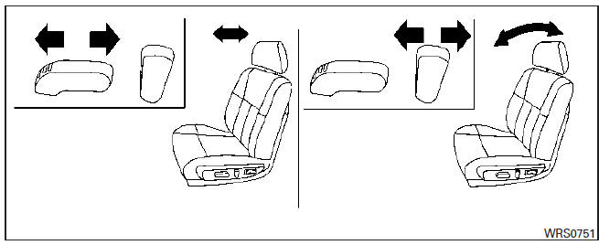 Nissan Altima: Ajuste del asiento eléctrico delantero