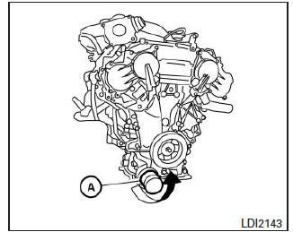 Nissan Altima: Cambio del filtro de aceite del motor