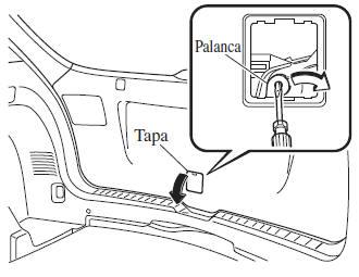 Mazda 3: Cuando no se puede abrir la compuerta trasera
