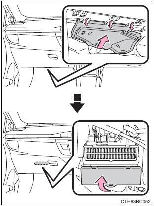 Toyota Corolla: Comprobación y recambio de fusibles