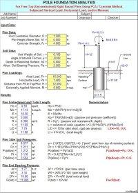 POLEFDN - Pole Foundation Analysis Spreadsheet