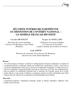 Sécurité intérieure européenne et définition de l'intérêt national : le modèle français revisité