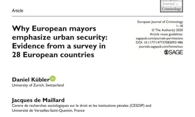 Why European mayors emphasise urban security. Evidence from a survey in 28 European countries
