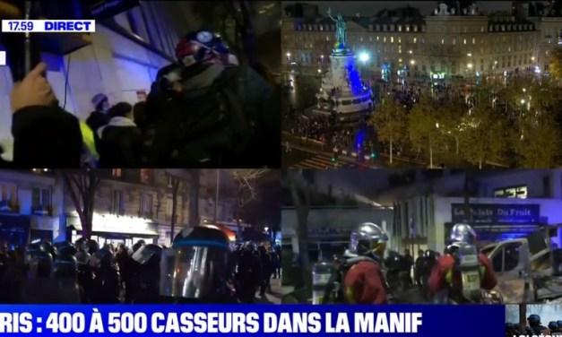 Manifestation contre la loi «sécurité globale» à Paris
