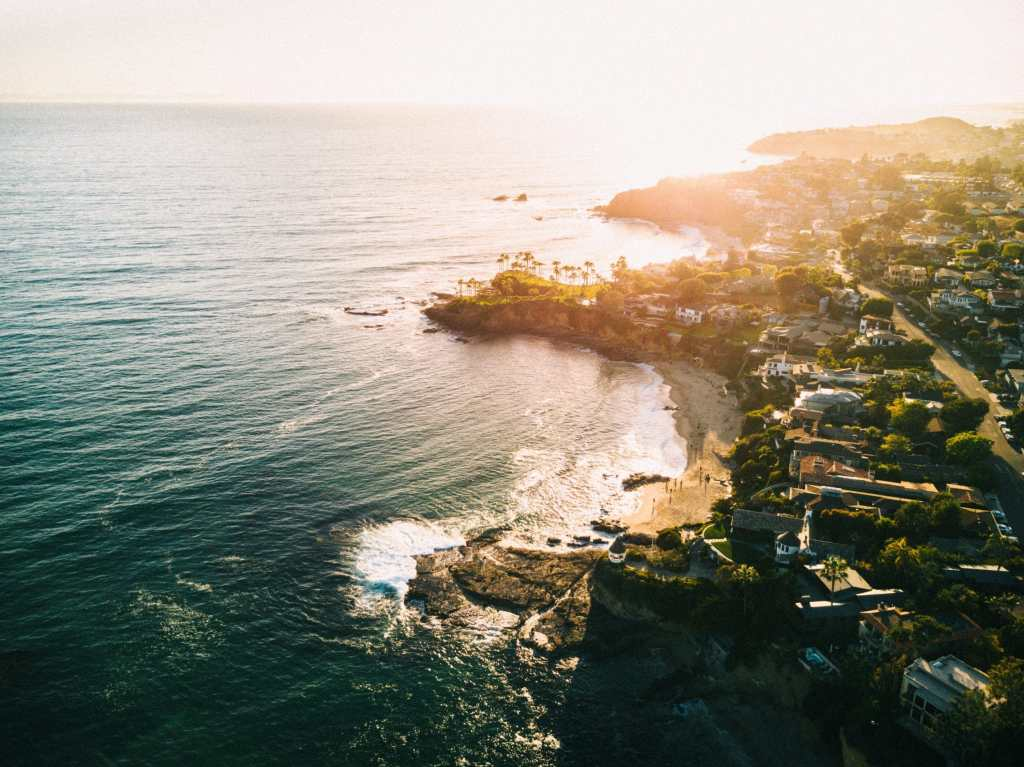 Arial of Laguna Beach CA