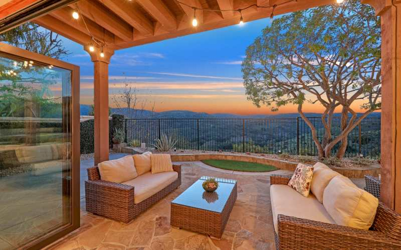 Backyard View Aliso Viejo