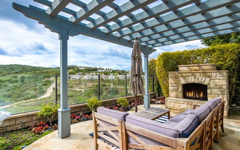 Backyard Aliso Viejo VIEW Fireplace