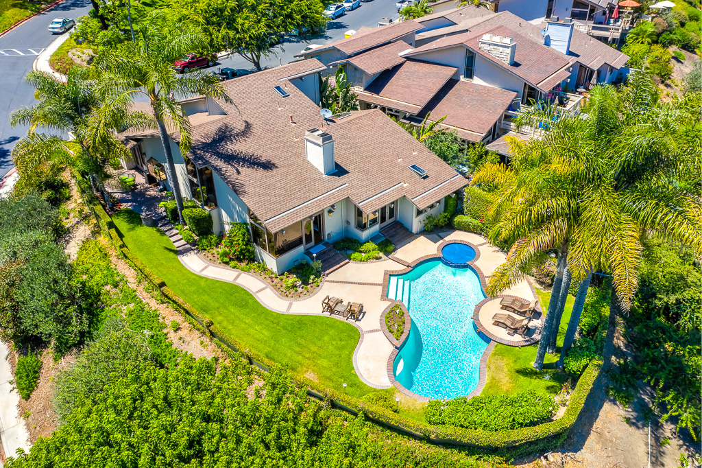 Arial Shot of Home Laguna Niguel