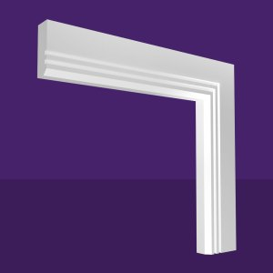 Single Chamfer & 2 Square Grooves Architrave