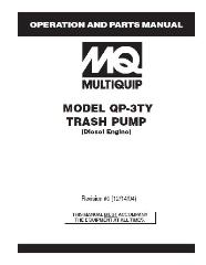 QP3TZ Multiquip Diesel Trash Pump