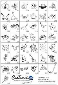 La série d'icônes dessinée par Sophie Rozenn Boucher
