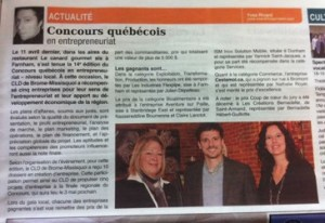 Nathalie Royer Article Journal Le Courrier 24 avril 2012