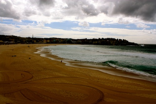 Cloudy day at Bondi Beach, Sydney, Australia