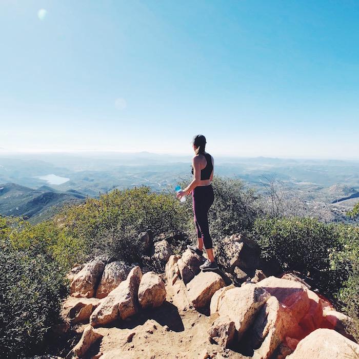 Iron Mountain hiking views in San Diego, California