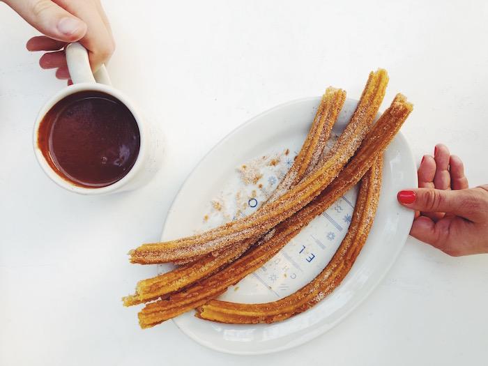 El Moro hot chocolate and churros in Condesa, Mexico City