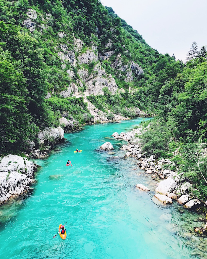 Views of the river in Soca Valley