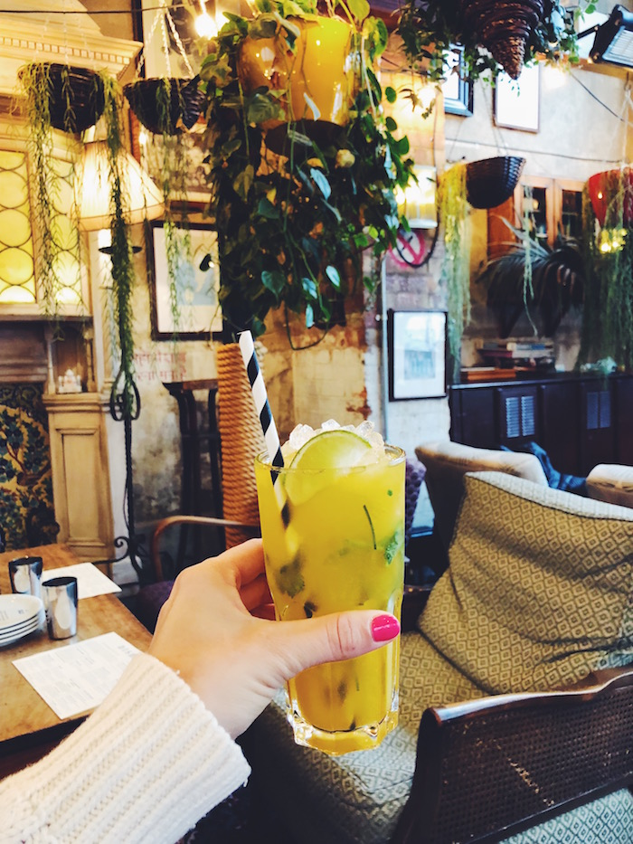Passionfruit soda at Dishoom Shoreditch