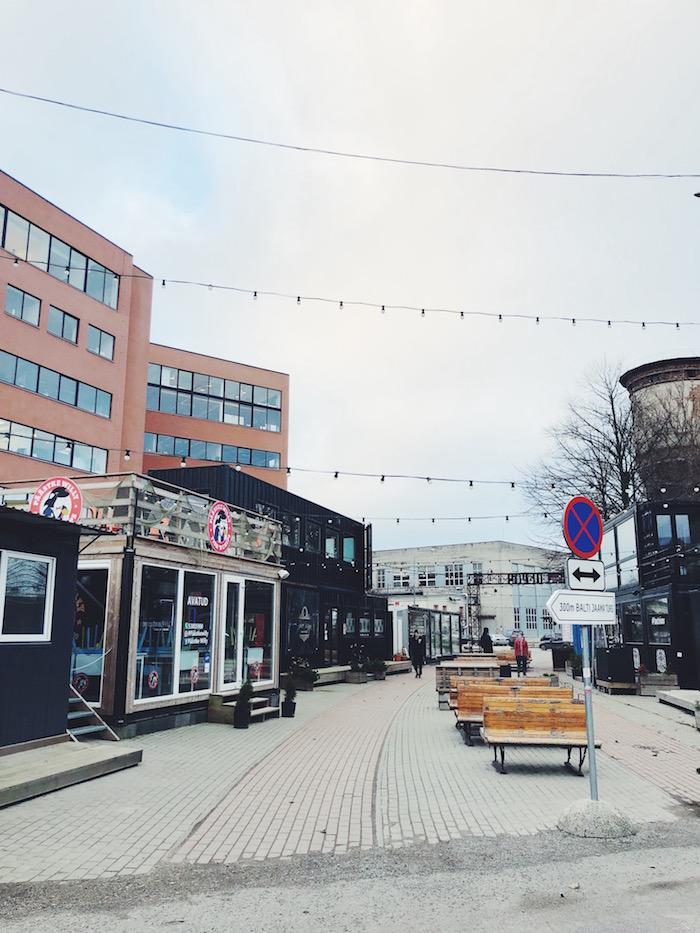 Hipster neighborhood in Tallinn, Estonia