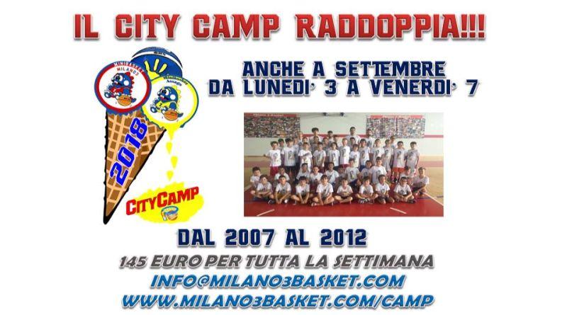 Il Minibasket City Camp raddoppia! Ora anche a Settembre!