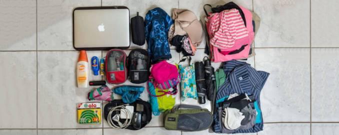 Otobüsle Avrupa turu için eşyalarınızı sırt çantasına sığdırma
