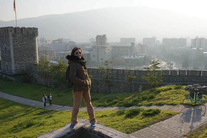 Makedonya Üsküp Kalesi Şehir Görüntüsü