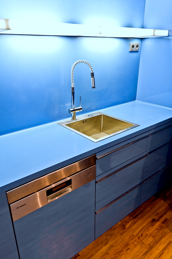blue kitchen sink small glass top table countertop and corian powder cetecho com lighting himacs d