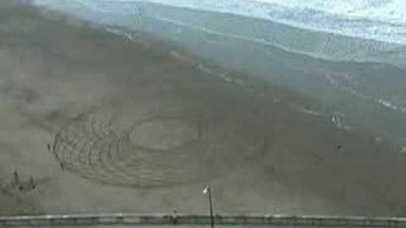 Círculos na areia: como fazer