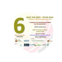 SAVE THE DATE 24 JANUARY: THE SEMINAR ON RESPONSIBLE TOURISM WILL HOLD AT FITUR 2014